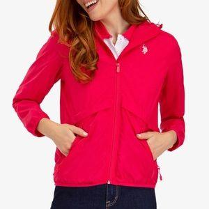 Hot Pink Essential Hooded Windbreaker